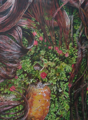"""The Strands at Rest, acrylic on canvas, 30"""" x 40""""   2013"""