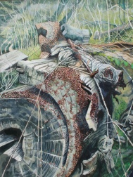 "The Teeming Rift, acrylic on canvas, 30"" x 40""   2014"