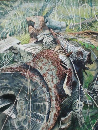 "The Teeming Rift, acrylic on canvas, 30"" x 40"" | 2014"